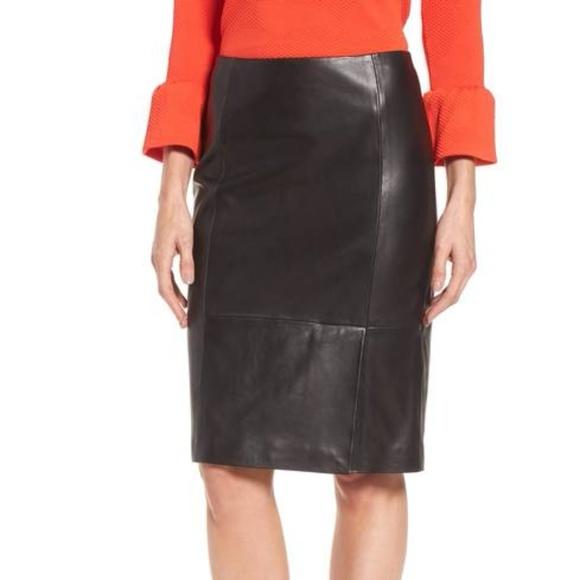 2b0263e1cc Hugo Boss Skirts | Boss Sepama Leather Pencil Skirt Nwt | Poshmark